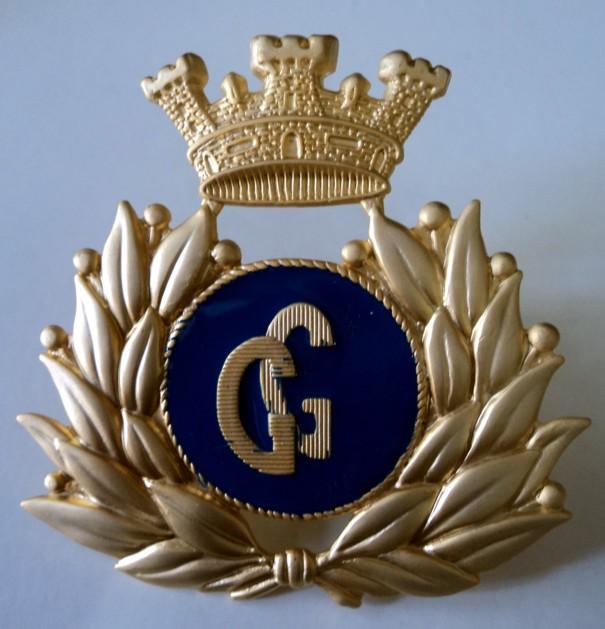 Fregio GG basco guardia giurata in metallo